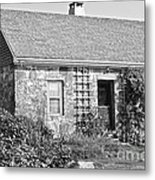 Black And White Cottage Metal Print