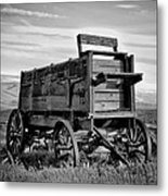 Black And White Covered Wagon Metal Print by Athena Mckinzie