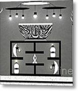 Black And White Decor Metal Print