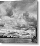 Black And White Detroit Skyline  Metal Print