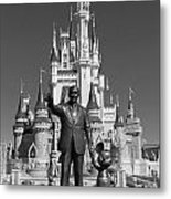 Black And White Disney And Mickey Metal Print