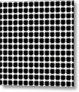 Black And White Dots Metal Print by Daniel Hagerman