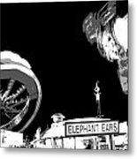 Black And White Festival Night Metal Print
