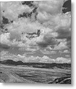 Black And White High Desert Cumulus Metal Print