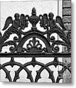 Black And White Ironwork Metal Print by Alys Caviness-Gober