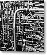 Black And White Jet Engine Metal Print
