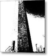 Black And White Lighthouse Metal Print