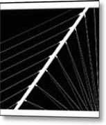 Black And White Lines Metal Print