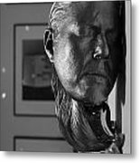 Black And White Mask Metal Print