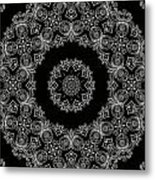 Black And White Medallion 6 Metal Print