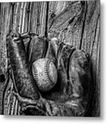 Black And White Mitt Metal Print by Garry Gay