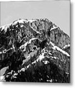 Black And White Mountain Range 4 Metal Print by Diane Rada