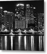 Black And White Night In Pa Metal Print
