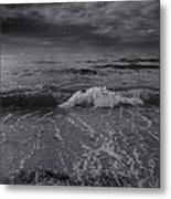 Black And White Ocean Wave 2014 Metal Print