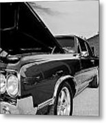 Black And White Olds Metal Print