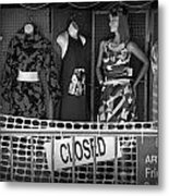 Black And White Outdoor Clothing Display Metal Print