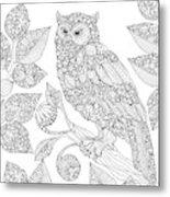 Black And White Owl Metal Print