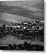 Black And White Peaks Over Prescott Homes Metal Print