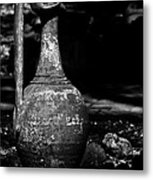 Black And White Pitcher Metal Print