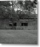 Black And White Shed Metal Print