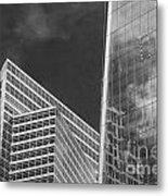 Black And White Skyscrapers Metal Print