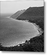 Black And White Sleeping Bear Dunes Metal Print
