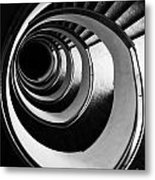 Black And White Spirals Metal Print