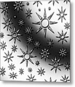 Black And White Suns Metal Print