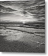 Black And White Sunset Metal Print