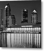 Black And White Tampa Night Metal Print