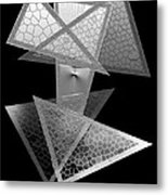 Black And White Triangles Metal Print by Mario Perez