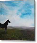 Black As Night In The Light Of Day Metal Print