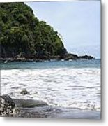 Black Beach Metal Print