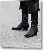 Black Boots Metal Print