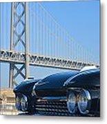 Black Cadillac In San Francisco Metal Print