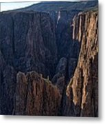 Black Canyon Into The Deep Hdr Metal Print
