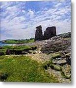 Black Castle Panorama Metal Print