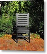 Black Chair Trio Metal Print