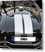 Black Cn Cobra Classic Car Metal Print