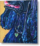 Black Cocker Spaniel Metal Print by Patti Schermerhorn