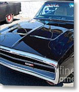 Black Dodge Charger Metal Print