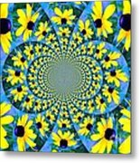 Black Eyed Susan Kaleidoscope Metal Print