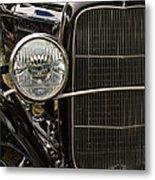 Black Ford Rod Metal Print