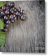 Black Grapes Metal Print
