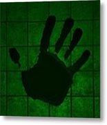 Black Hand Green Metal Print