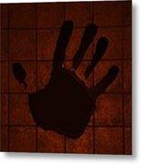 Black Hand Orange Metal Print