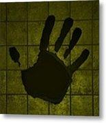 Black Hand Yellow Metal Print