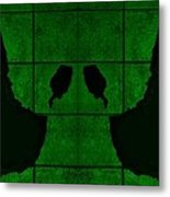 Black Hands Green Metal Print