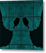 Black Hands Turquoise Metal Print