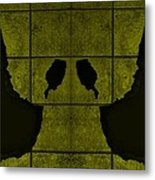 Black Hands Yellow Metal Print